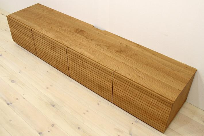 天然木・無垢を使ったテレビ台・テレビボード 風雅  -タイプ2 ブラックチェリー#05