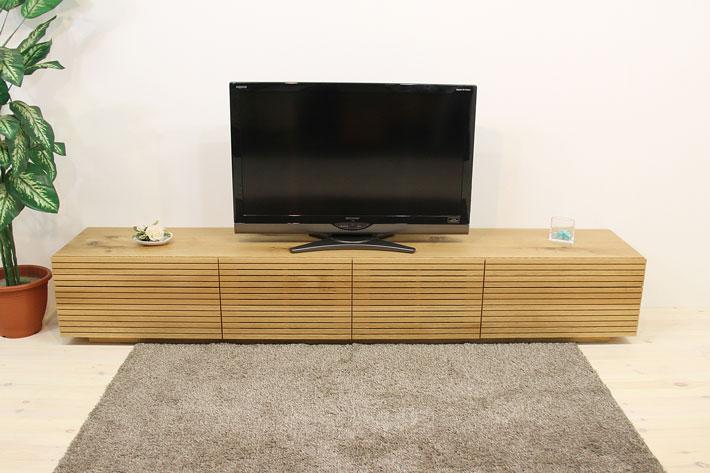天然木・無垢を使ったテレビ台・テレビボード 風雅  -タイプ2 2700mm ホワイトオーク イメージ1