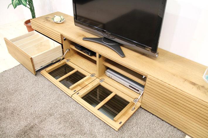 天然木・無垢を使ったテレビ台・テレビボード 風雅  -タイプ2 2700mm ホワイトオーク イメージ2