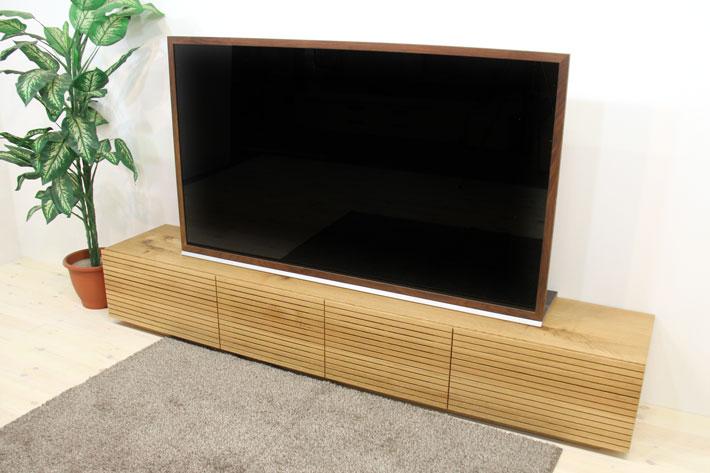 天然木・無垢を使ったテレビ台・テレビボード 風雅  -タイプ2 ホワイトオークト#05