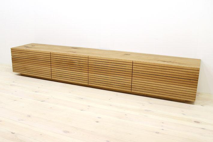 天然木・無垢を使ったテレビ台・テレビボード 風雅  -タイプ2 ホワイトオークト#06