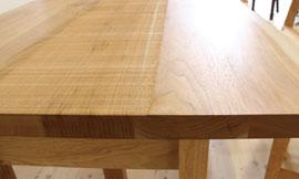 ダイニングテーブル 天板と小口
