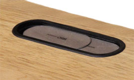 テレビボード 天板配線孔