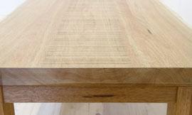 センターテーブル 天板と小口
