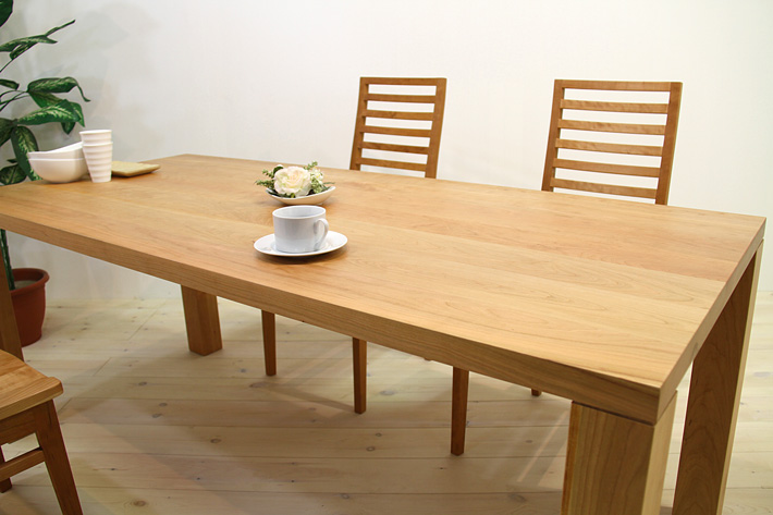 天然木・無垢のダイニングテーブル 凛/RIN ブラックチェリー イメージ2