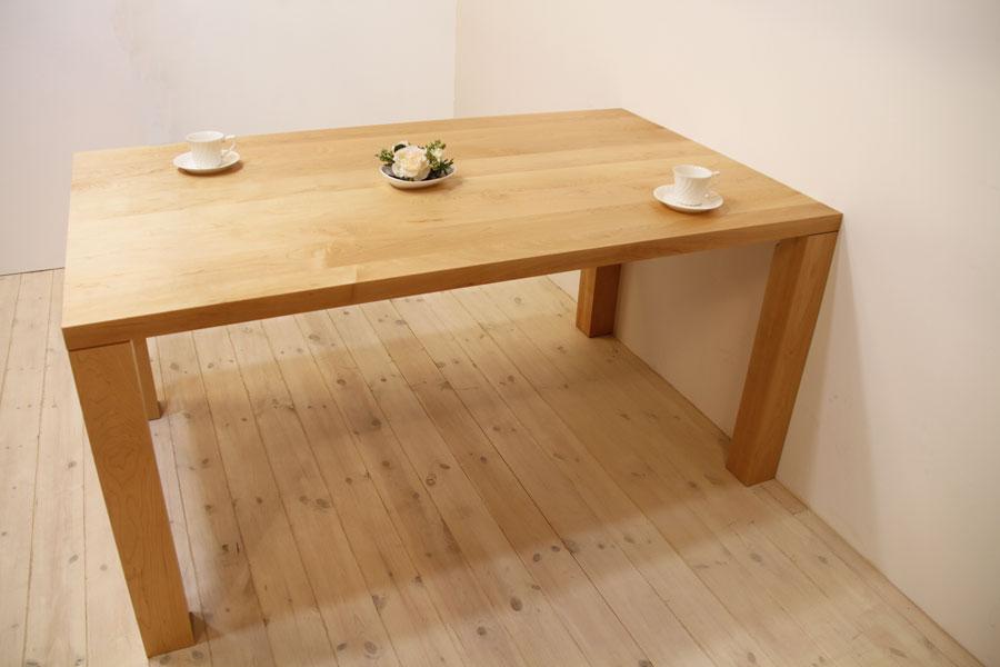 凛/RINダイニングテーブル (メープル シンプル)#04