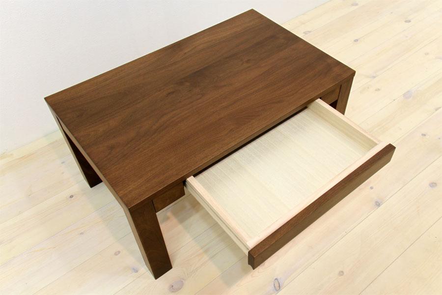 凛 センターテーブル ウォールナット/ウォルナット3