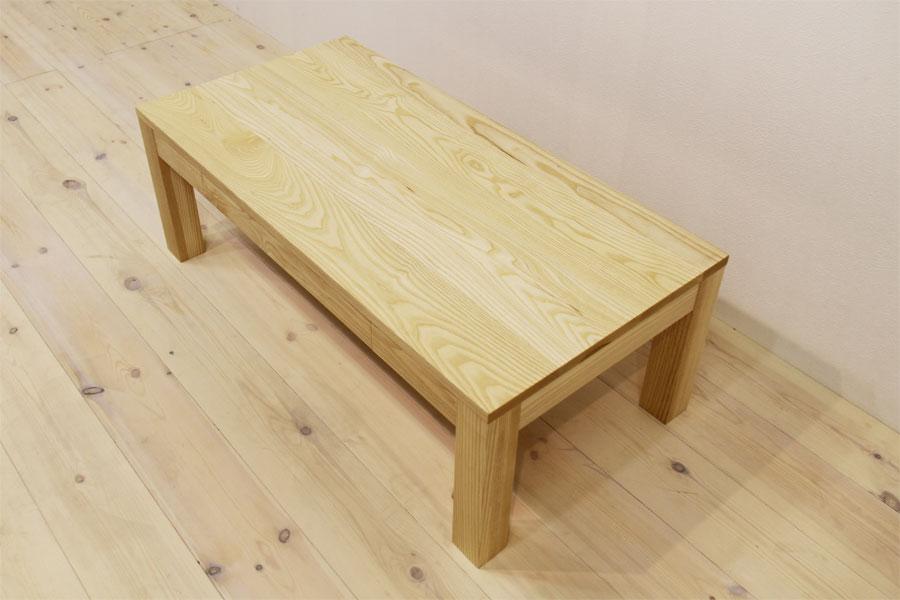 凛 センターテーブル ホワイトアッシュ3