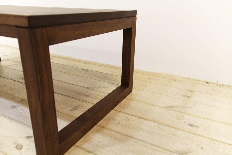 凛 センターテーブル ウォールナット/ウォルナット5