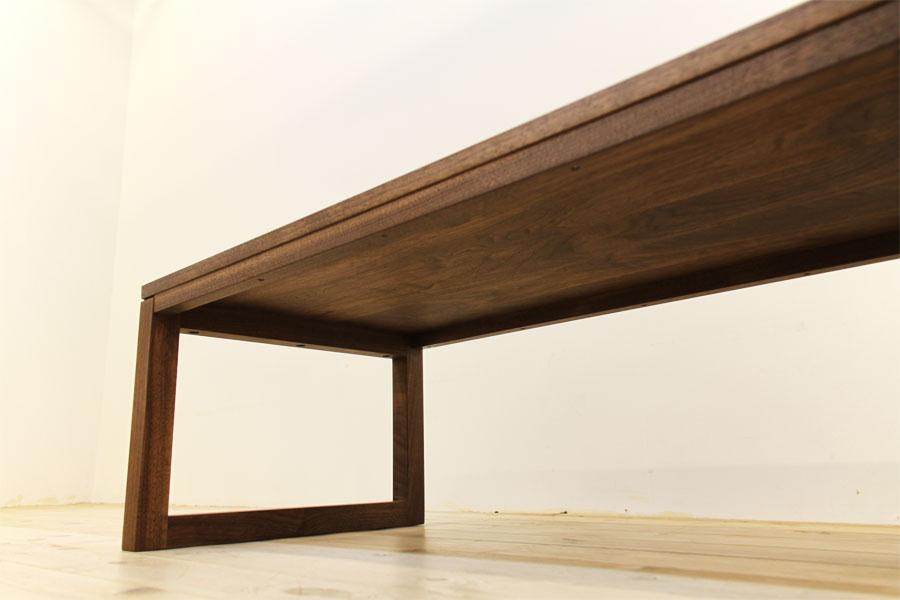 凛 センターテーブル ウォールナット/ウォルナット8