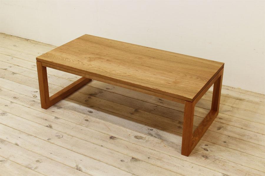凛センターテーブル ブラックチェリー 四角脚タイプ