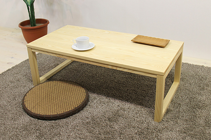 凛センターテーブル ホワイトアッシュ 四角脚タイプ
