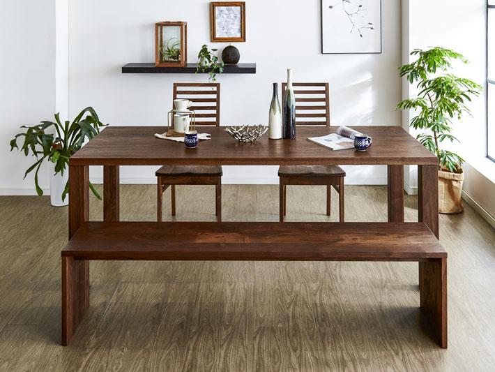 天然木・無垢のダイニングテーブル 凛/RIN ウォールナット イメージ1