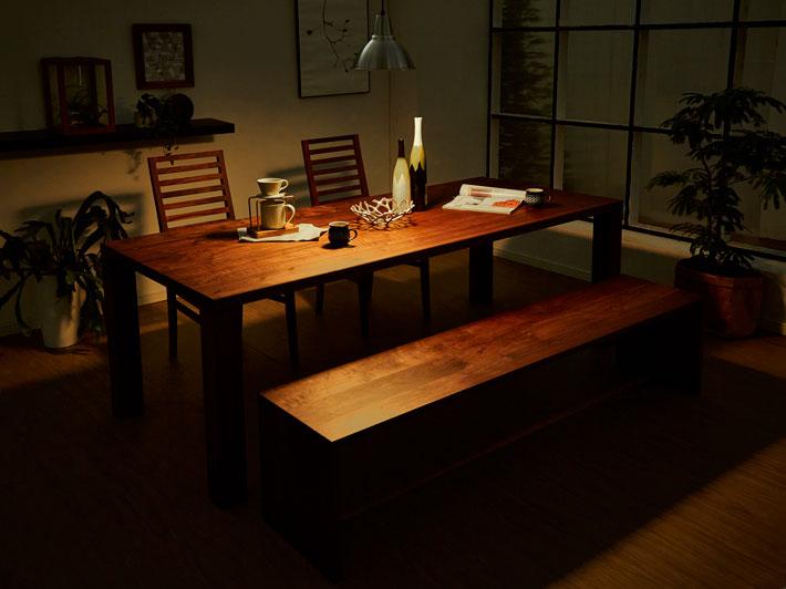 天然木・無垢のダイニングテーブル 凛/RIN ウォールナット イメージ2