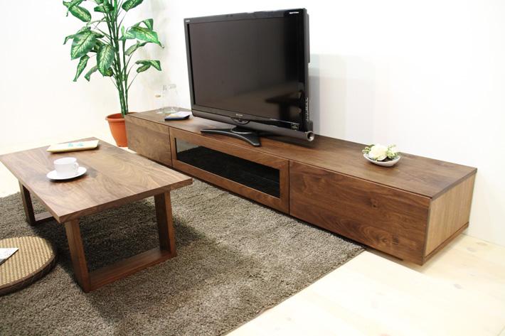 凛テレビボード ウォールナット 幅2400 スタンダード