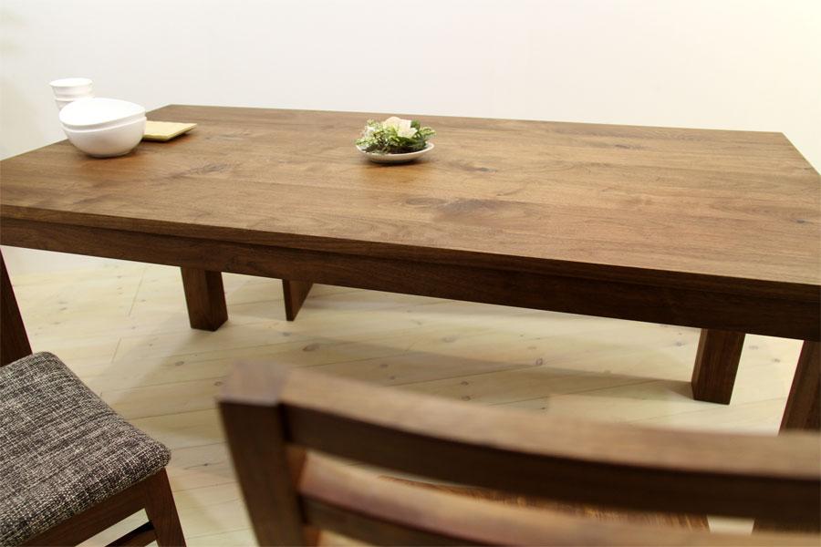 彩美/SAIBI ダイニングテーブル (ウォルナット シンプル)#02
