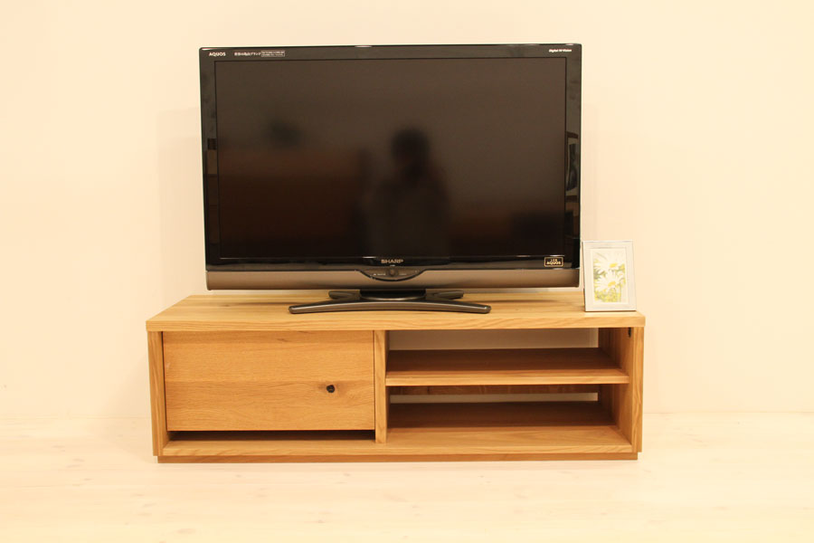 彩美/SAIBI テレビボード(ホワイトオーク-シンプル)#01