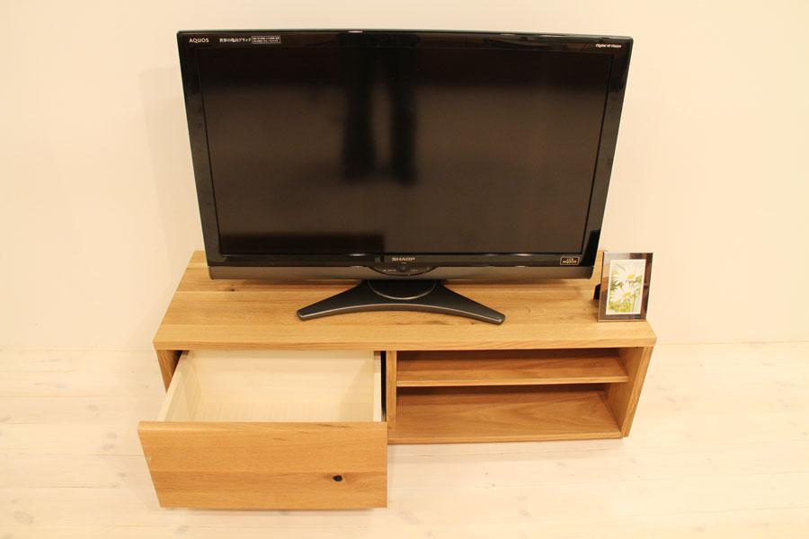 彩美/SAIBI テレビ台・テレビボード オープンタイプ ホワイトオーク#04