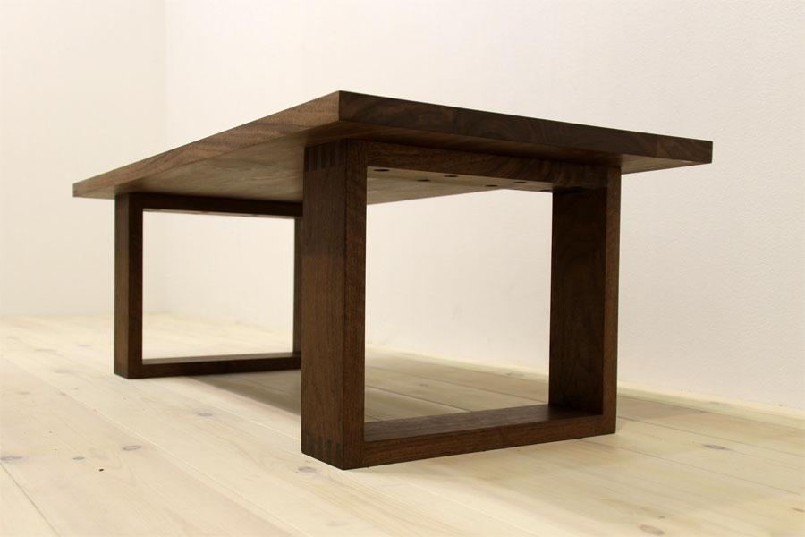 彩美/SAIBI センターテーブル W1000(ウォルナット-シンプル)#08