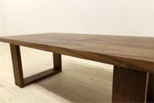 彩美/SAIBI センターテーブル W1000(ウォルナット-シンプル)#09