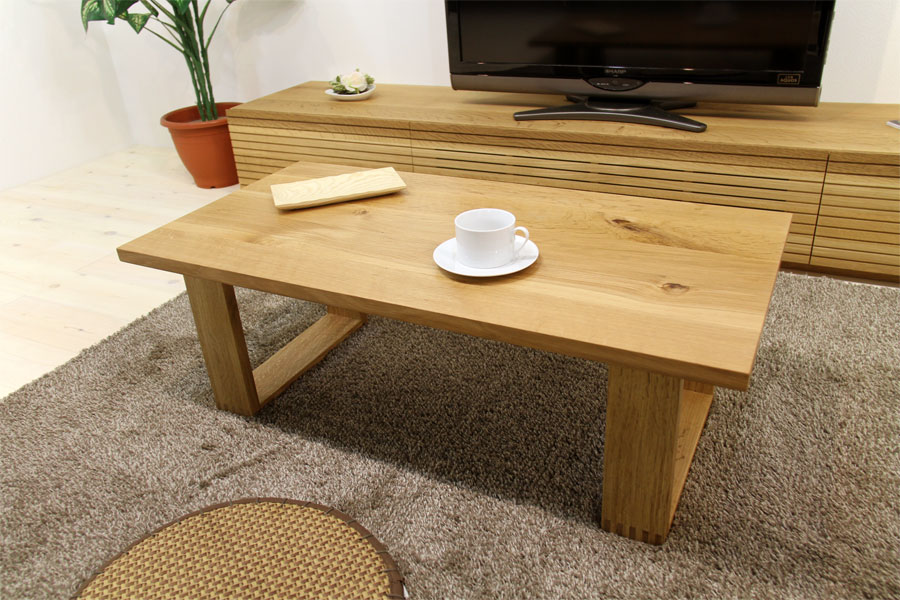 彩美/SAIBI センターテーブル ホワイトオーク1