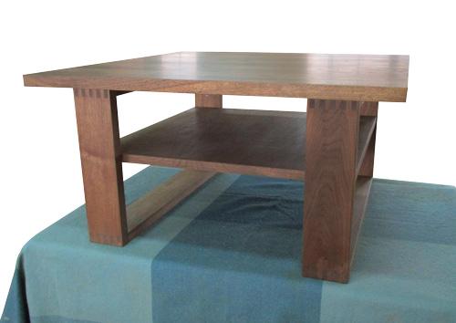 彩美センターテーブル 棚板付