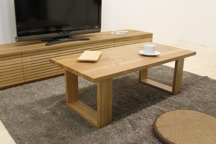 彩美ローテーブル・センターテーブル・リビングテーブル ホワイトオーク 幅1000mm