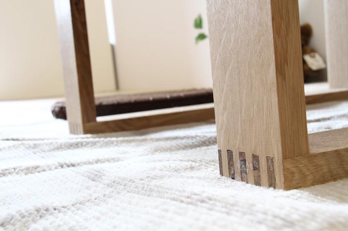 彩美/SAIBI センターテーブル ホワイトオーク2