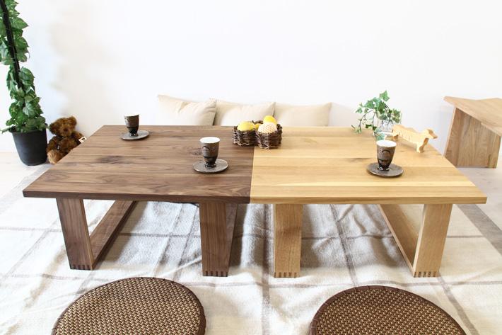 彩美/SAIBI センターテーブル ホワイトオーク3