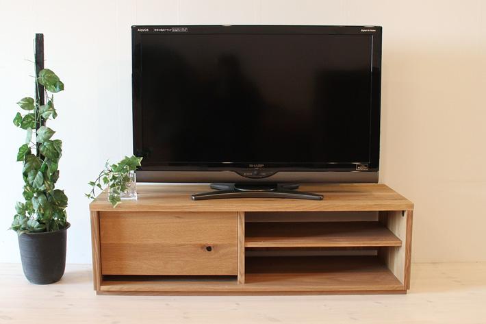 彩美テレビボード ホワイトオーク 幅1200 シンプルタイプ