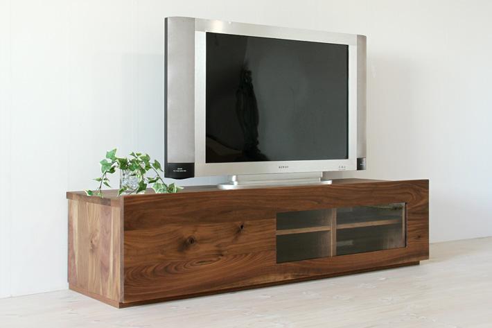 彩美テレビボード ウォールナット 幅1500 ガラスタイプ