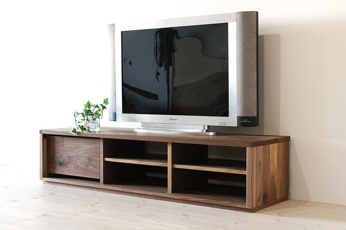 彩美テレビボード ウォールナット 幅1500 シンプルタイプ