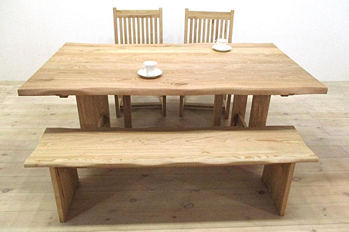 然 ダイニングテーブル 1650mm クリ材 イメージ1