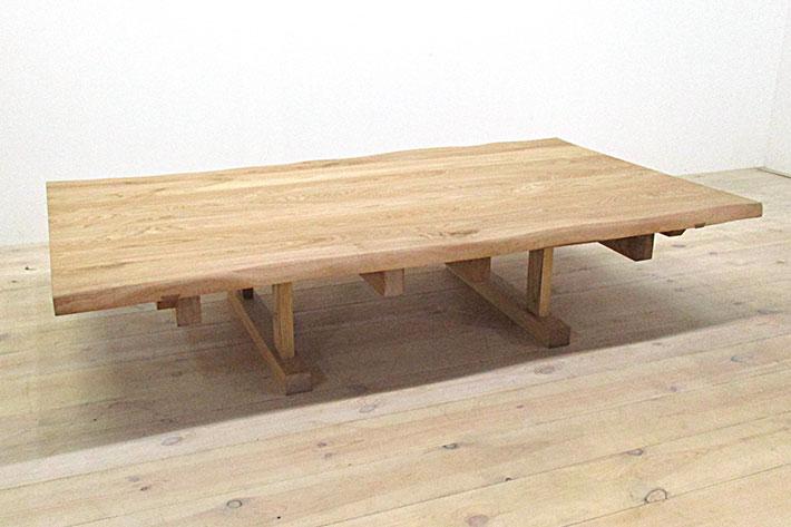 然 ダイニングテーブル 1650mm クリ材 イメージ3