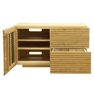 天然木・無垢材使用のテレビ台としても使えるチェスト・タンス・収納