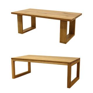 天然木・無垢材使用のローテーブルシンプルタイプ