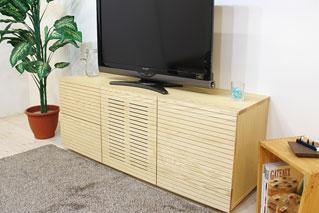 天然木のテレビ台-ハイタイプ