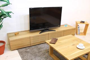 天然木のテレビ台-ロータイプ