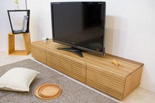 風雅テレビボード type1 幅1800mm ホワイトオーク