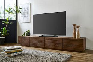 天然木・無垢のテレビボード 風雅 幅2000mm ウォールナット