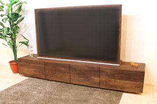 風雅テレビボード type2(左右引き出し2段) 幅2400mm ウォールナット