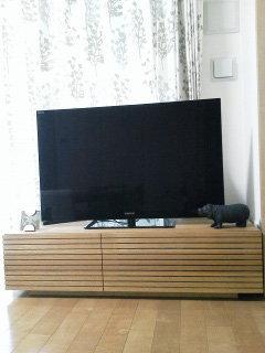 天然木・無垢を使用、風雅ホワイトオークのテレビ台1