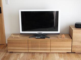 天然木・無垢のホワイトオークテレビ台2