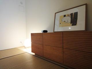 天然木・無垢のローチェスト風雅ブラックチェリーW1500