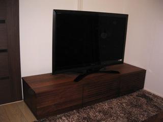 天然木・無垢のテレビボード風雅ウォールナットW1500-1