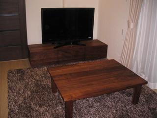 天然木・無垢のテレビボード風雅ウォールナットW1500-4