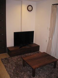 天然木・無垢のテレビボード風雅ウォールナットW1500-5