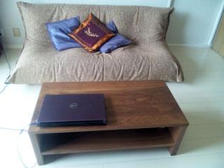 天然木・無垢のローテーブル彩美ウォールナット1