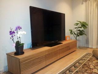天然木・無垢のテレビ台-風雅ウォールナットW2000-1