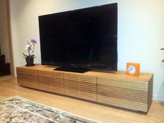 天然木・無垢のテレビ台-風雅ウォールナットW2000-2